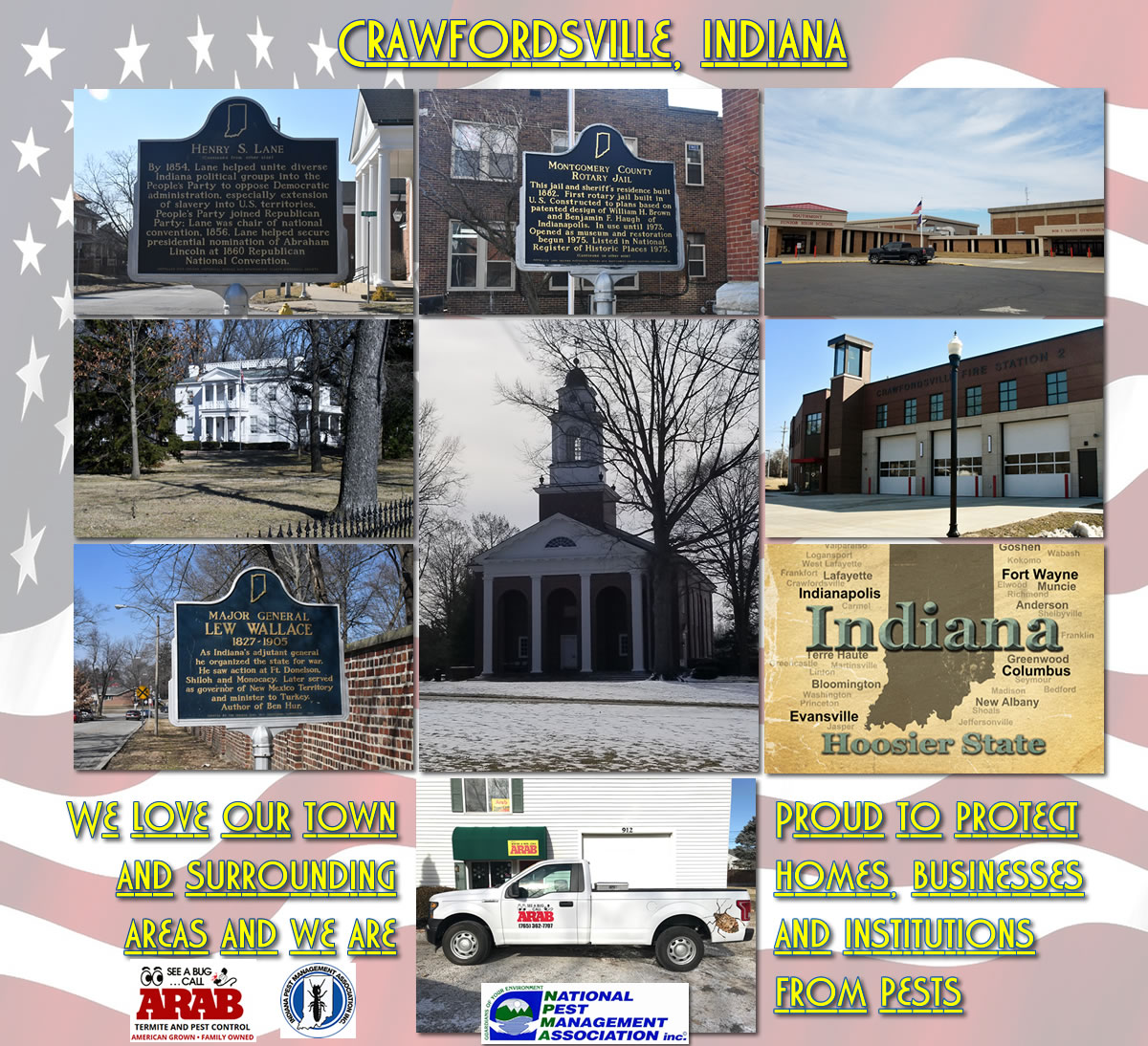 Crawfordsville, Indiana collage